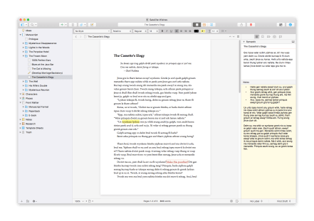 Scrivener 3 Cleaner Interface