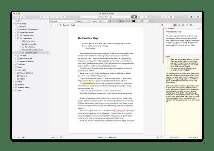 Scrivener 3 Cleaner Interface