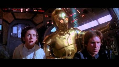 Threepio telling Han Solo the odds Princess Leia Star Wars Empire Strikes Back