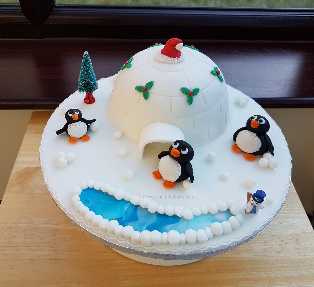 Igloo Penguin Cake Help Me Bake