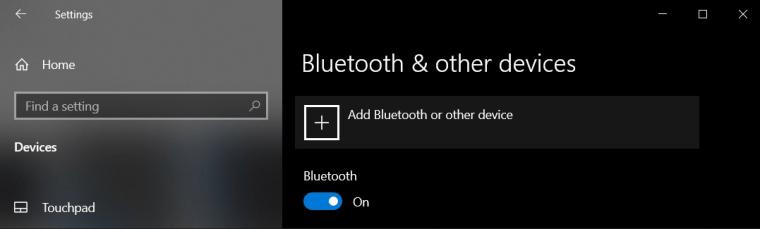 Setări Bluetooth Windows 10
