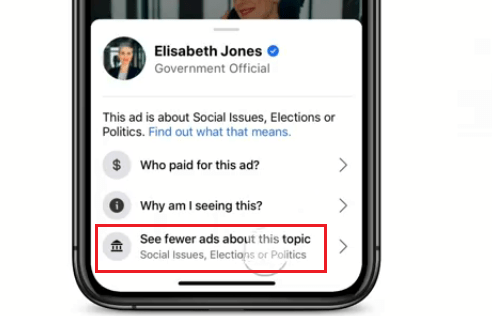 see fewer ads facebook