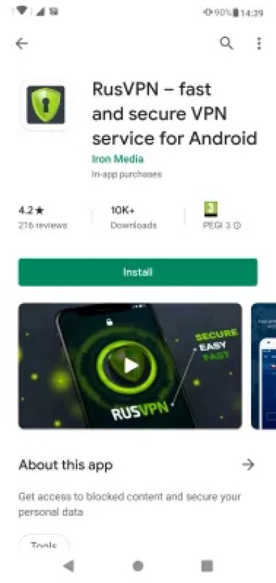 Easy guide: setting up VPN on Android phone with free trial : RusVPN Android app on Play Store