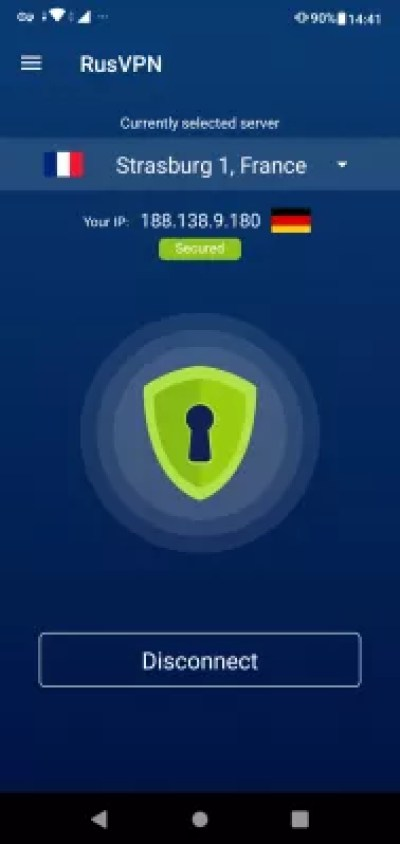 Easy guide: setting up VPN on Android phone with free trial : Network traffic secured with VPN