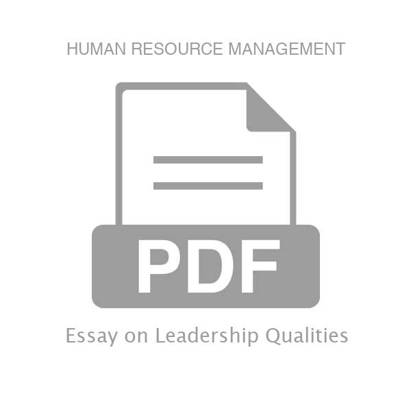 Essay leadership qualities