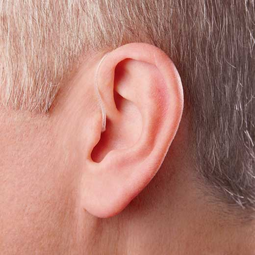 Tinnitus hearing aid in ear