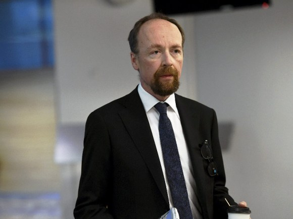 Jussi Halla-aho, the chairperson of the Finns Party, views that the assault was an attack against political activity. (Emmi Korhonen – Lehtikuva)