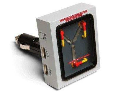 Retour-vers-le-futur-Flux-condensateur-USB-Auto-Voiture-Allume-cigare-0-0