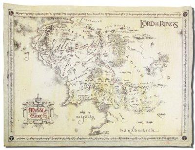Close-Up-Le-Seigneur-des-anneaux-Carte-de-la-Terre-du-Milieu-en-vritable-papier-parchemin-Avec-un-poster-surprise-0
