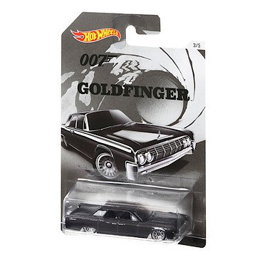 Hot-Wheels-James-Bond-007-Goldfinger-1964-Lincoln-Continental-Mini-Vhicule-Echelle-164-0