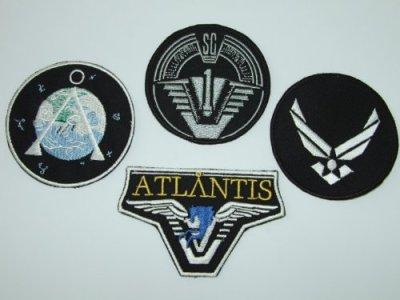 Stargate-SG1Atlantis-quipe-pour-femme-4-brod-Badge-Set-0