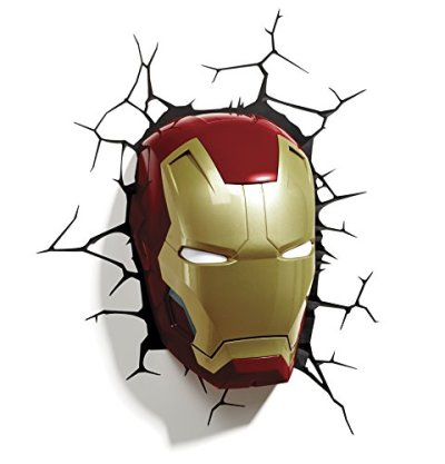 Lansay-10151-Ameublement-Et-Dcoration-Avengers-Masque-DIron-Man-3D-Lumineux-Mural-0