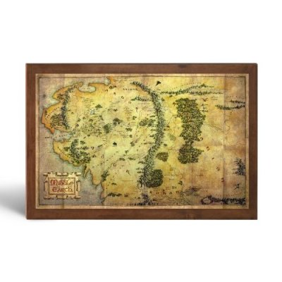 Le-Hobbit-un-voyage-inattendu-Carte-de-la-Terre-du-Milieu-Noble-collection-0