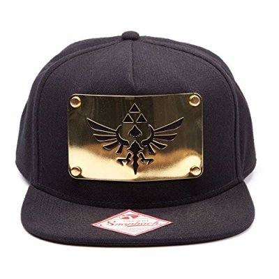 The-Legend-of-Zelda-Golden-Metal-Plate-Casquette-Snapback-noiror-0