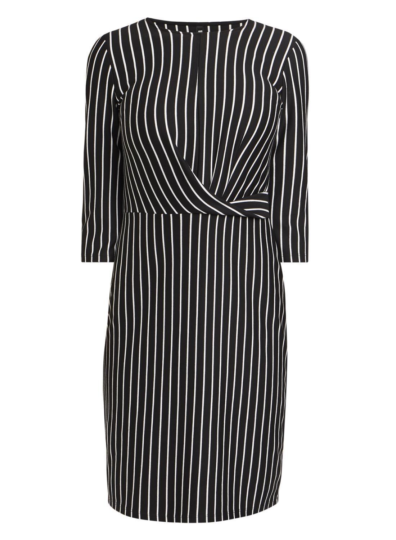 Damen Kleid Schwarzweiß Hema