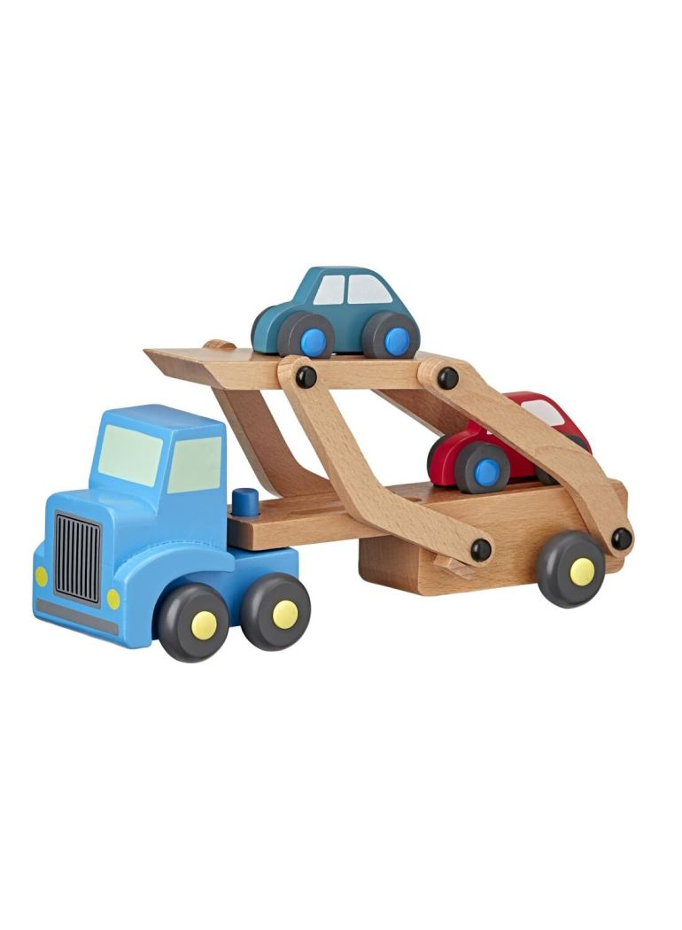 Houten truck met auto's