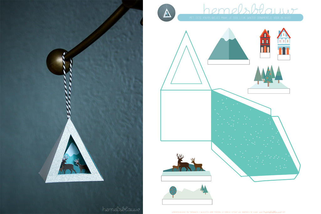 Winter versiering voor in huis met download van do it yourself blog van hemelsblauw