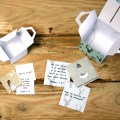 doosjes met kaartjes adventskalender hemelsblauw