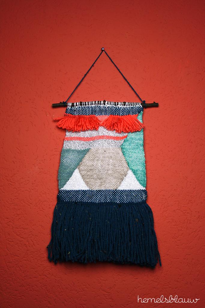 compleet weaving woven wall hanging hemelsblauw diy blog