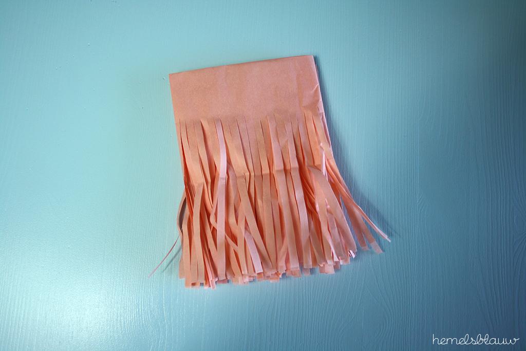 slinger tissuepapier hemelsblauw blog