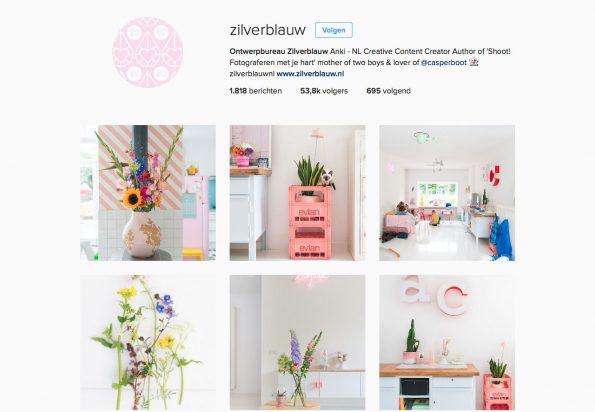 Instagram Zilverblauw