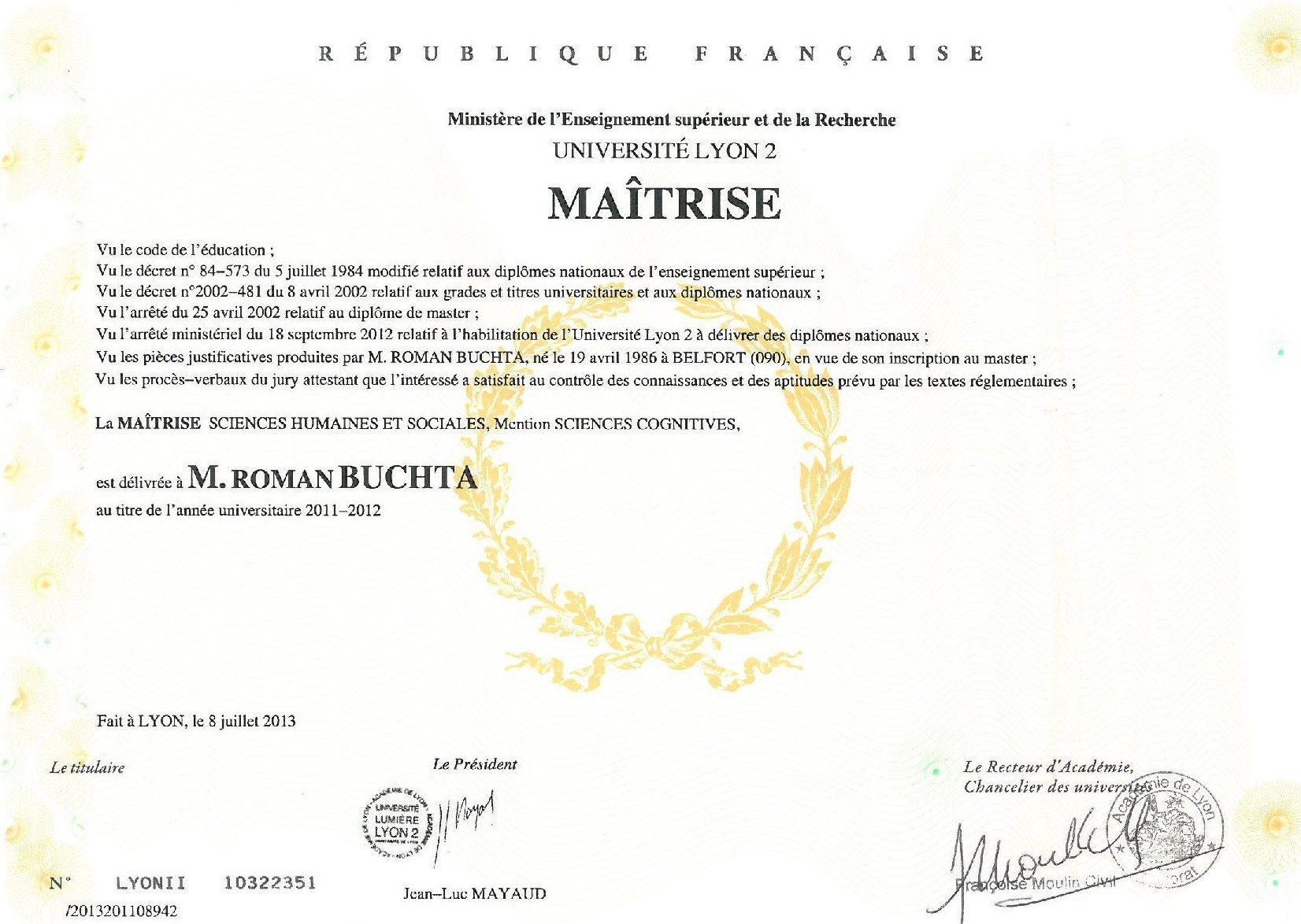 Maîtrise-Sciences-Cognitives Roman