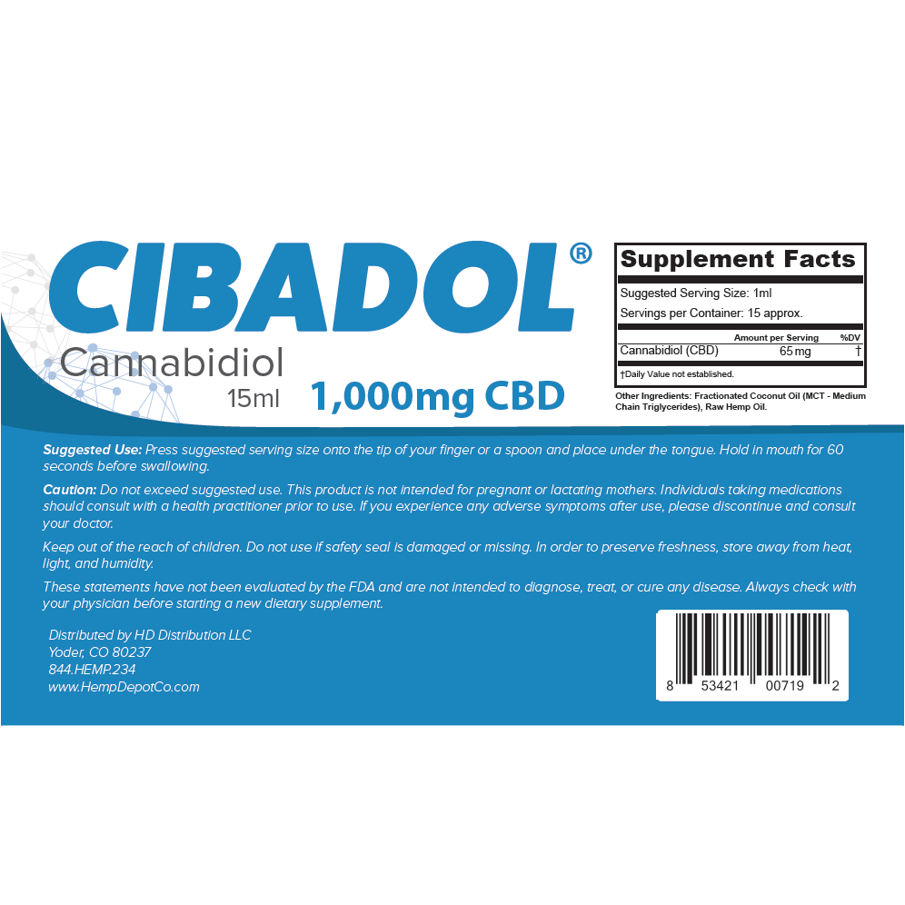 Cibadol - CBD Oil Tube