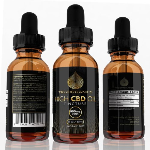 Tru Organics – CBD Tinctures (900mg)