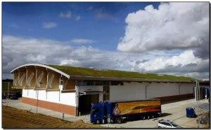 The new Adnams distribution center built with hemp.  Photo credit: Adnams. Suffolk, U.K.