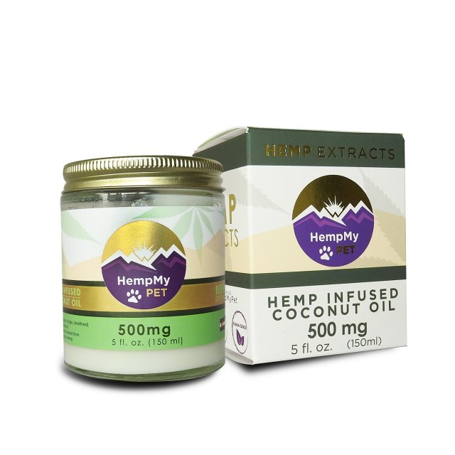 Certified Organic Coconut Oil Infused with Organically Grown Colorado CBD Hemp Extract - 500mg (5 fl. oz. jar)