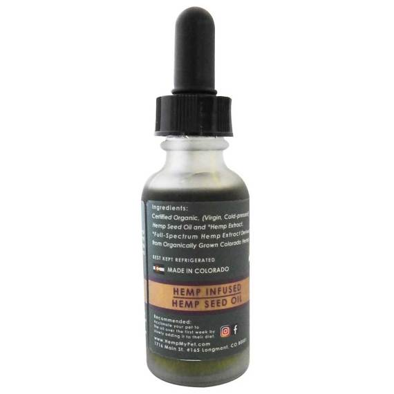 Bottle of 250 mg CBD from full spectrum hemp extract with hemp seed oil