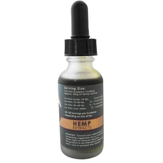 250 mg CBD from Full Spectrum Organic Hemp in one ounce of hemp seed oil