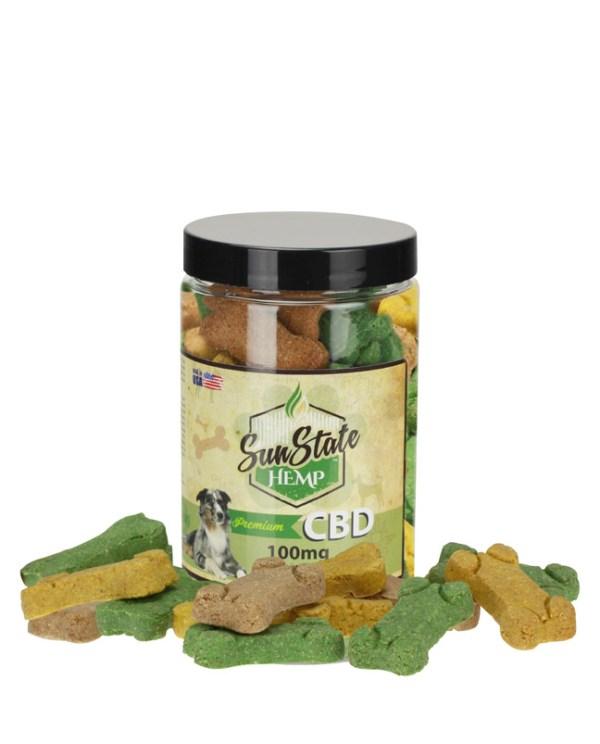 Healthy dogs with CBD treats from Sun State Hemp