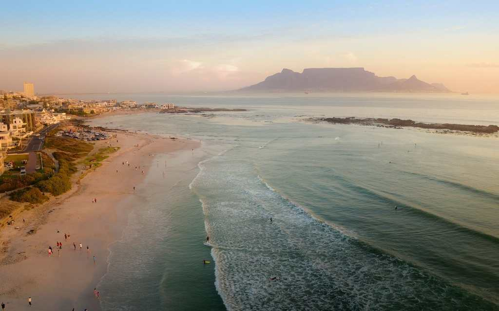 South Africa with mountain Table in the background