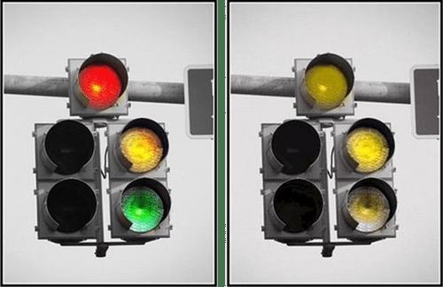 Image result for colour blind, traffic lights