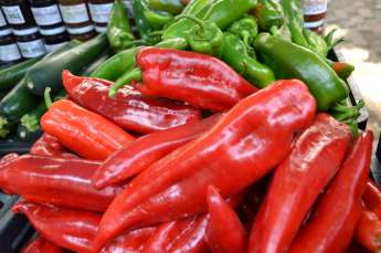 marche : piments rouges