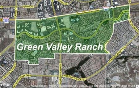 Map of Green Valley Ranch in Henderson Nevada