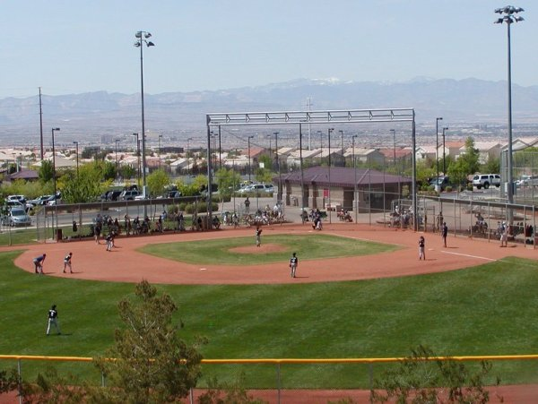A baseball field at Anthem Hills Park in Henderson NV