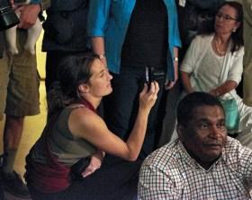 Sasha Mentz-Lagrange capturing moments during one of the presentations | photo credit: Ken Barris