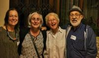 Old friends meet again: Anri Barris, Laura Raysman, Janice Mentz and Herschel Raysman   photo credit: Ken Barris