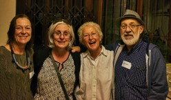 Old friends meet again: Anri Barris, Laura Raysman, Janice Mentz and Herschel Raysman | photo credit: Ken Barris