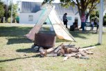 On of the structures forming part of the housing protest in Suurbraak.
