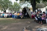 Suurbraak residents gathered on the braak to attend the housing protest