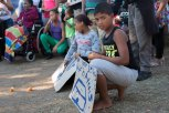 Young protesters for housing in Suurbraak