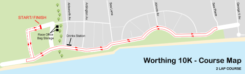 worthing 10k course map