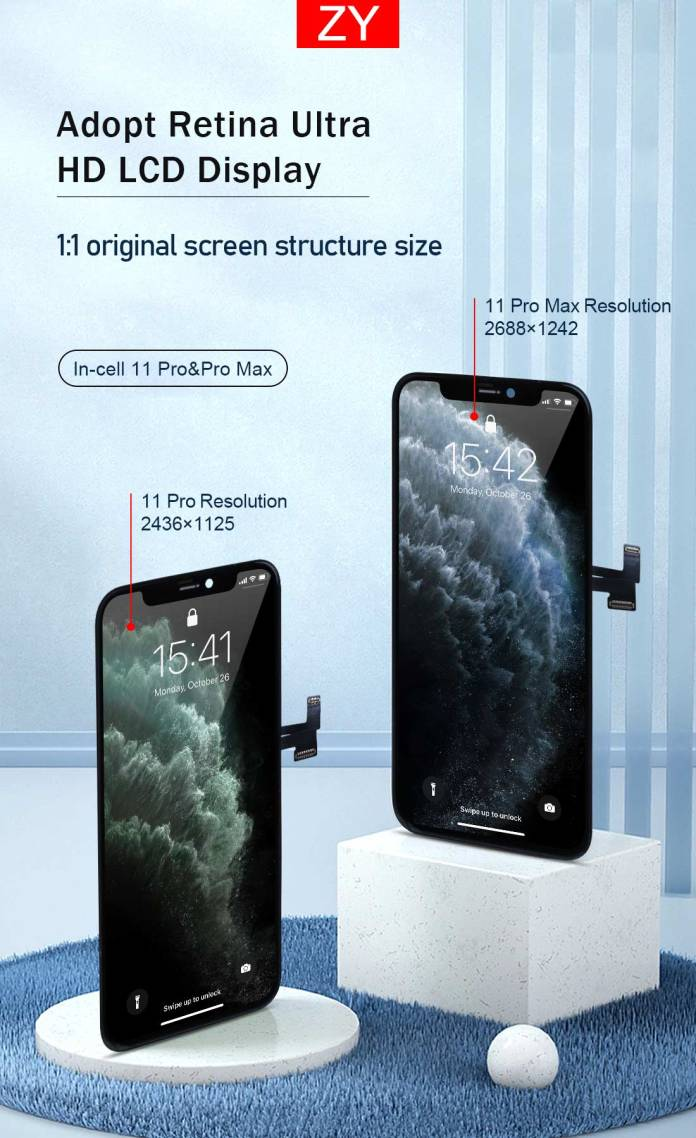 Iphone 11 Pro Max Incell Lcd Manufacture Iphone 11 Pro Max Oem Lcd Screen Supplier Zy Lcd