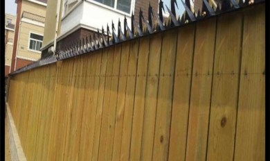 Wood Fence With Metal Top | Wooden Thing