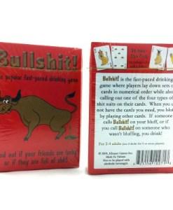Bullshit Drinking Card Game