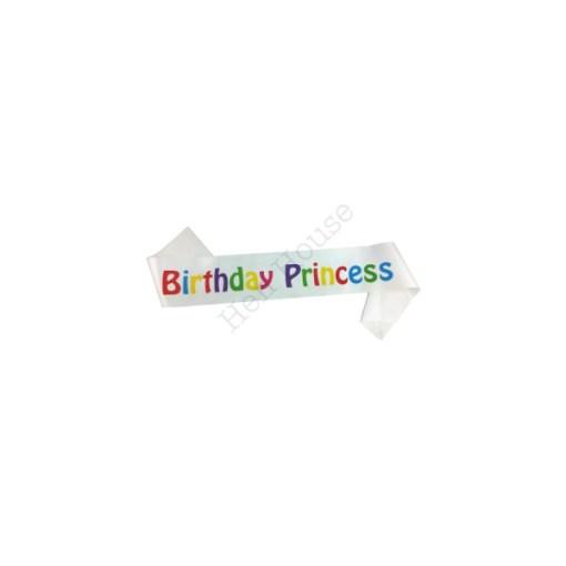Psychedelic Birthday Princess Sash