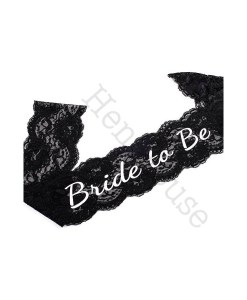 Black Lace Bride to Be Sash